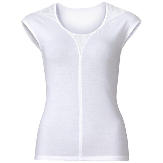 SUW Top Crew neck s/s Natural + X-Light, snow white melange, large