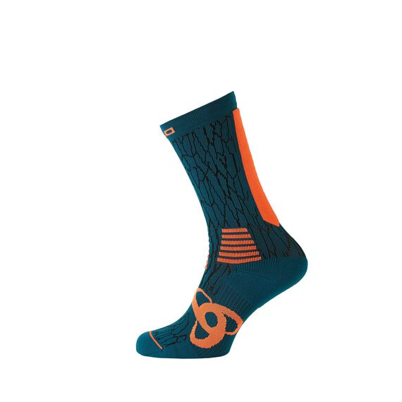 Socks long CERAMICOOL Light, blue coral - orange clown fish, large