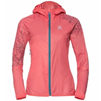 Women's WISP WINDPROOF Jacket, dubarry - placed print SS18, large