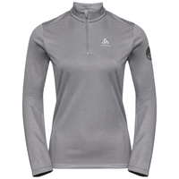Women's PILLON 1/2 Zip Midlayer, grey melange, large