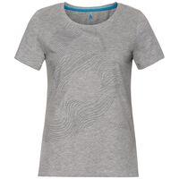 Haut BL col ras du cou manches courtes CORE, grey melange - placed print FW18, large