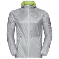 Men's ZEROWEIGHT PRO Jacket, silver - acid lime, large