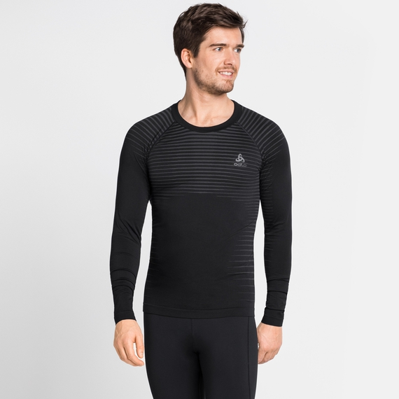Herren PERFORMANCE LIGHT Baselayer Langarm-Shirt, black, large