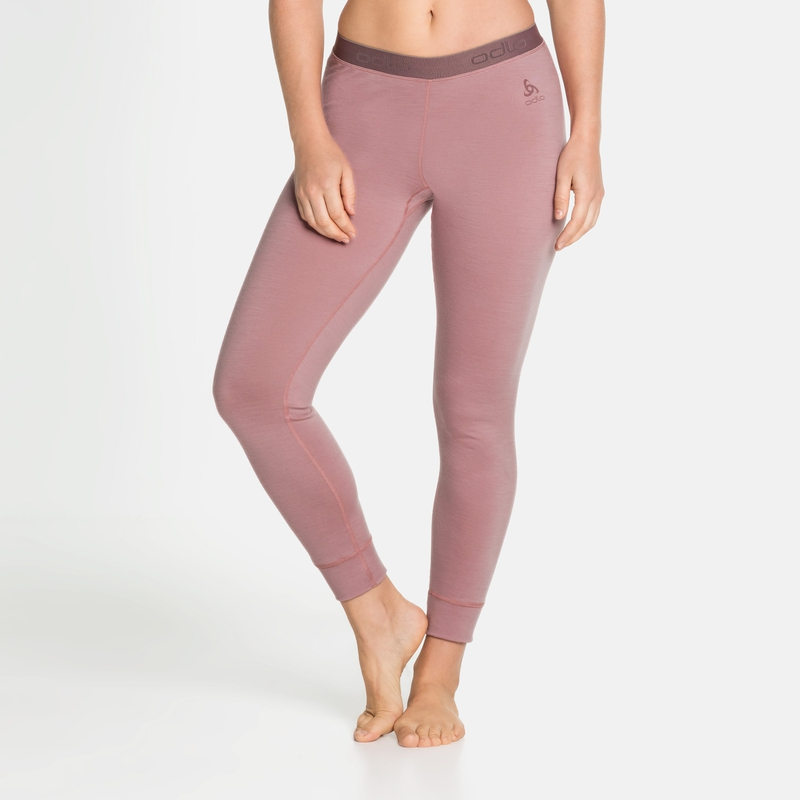 Women's NATURAL 100% MERINO WARM Base Layer Pants, woodrose, large