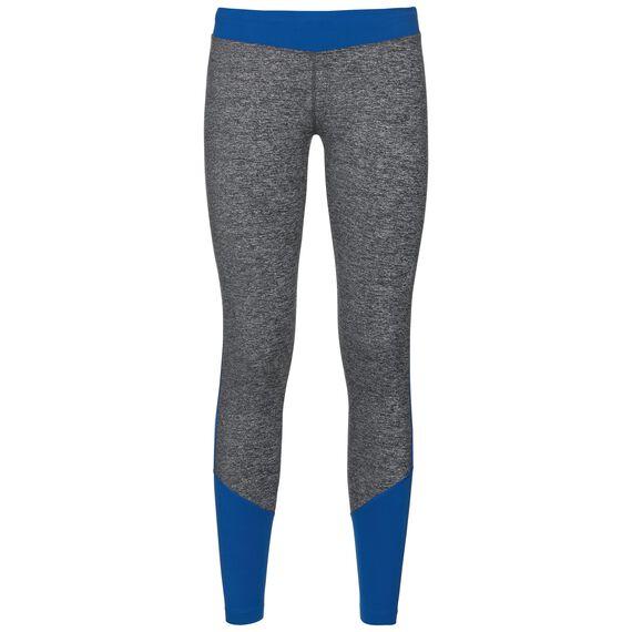 MAGET warm running tights, lapis blue - black melange, large