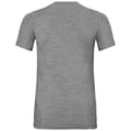 BL TOP Shirt met ronde hals KUMANO 100% MERINO PRINT, grey melange with butterfly print, large