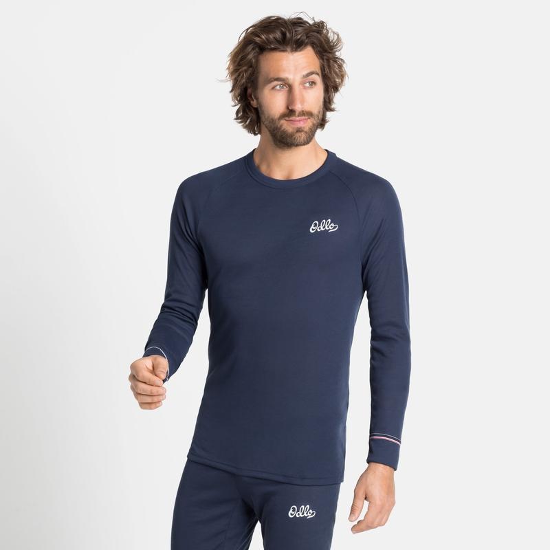 Tee-shirt technique à manches longues ACTIVE WARM ORIGINALS ECO pour homme, diving navy, large