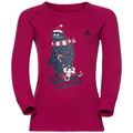 Shirt l/s crew neck GOD JUL PRINT, sangria, large