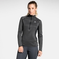 Women's ZEROWEIGHT CERAMIWARM 1/2 Zip Midlayer, black - reflective print FW19, large