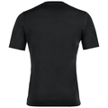 Men's NATURAL 100% MERINO WARM Base Layer T-Shirt, black - black, large