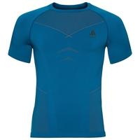 Shirt s/s crew neck EVOLUTION WARM, mykonos blue - orangeade, large