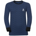 ACTIVE WARM KIDS Funktionsunterwäsche Langarm-Shirt, black - estate blue, large