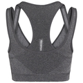 Sports Bra CERAMICOOL SEAMLESS MEDIUM, black melange, large