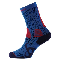 Chaussettes hautes CeramiCool LIGHT, diving navy - fiery red, large