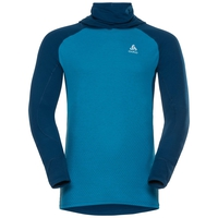 SVS top à cagoule manches longues active Revelstoke Warm, poseidon - blue jewel, large