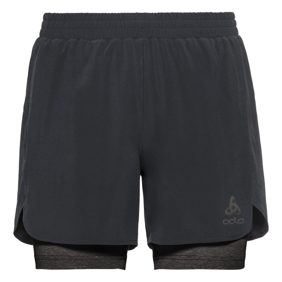 2-in-1-short MILLENNIUM LINENCOOL PRO, black - black, large