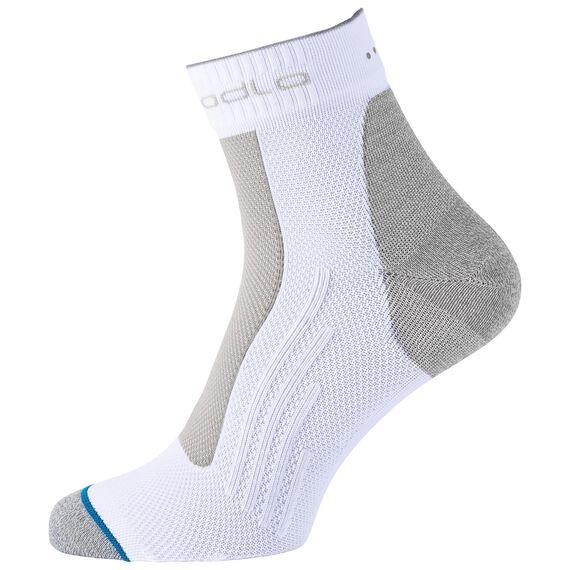 Socks quarter LIGHT, white, large