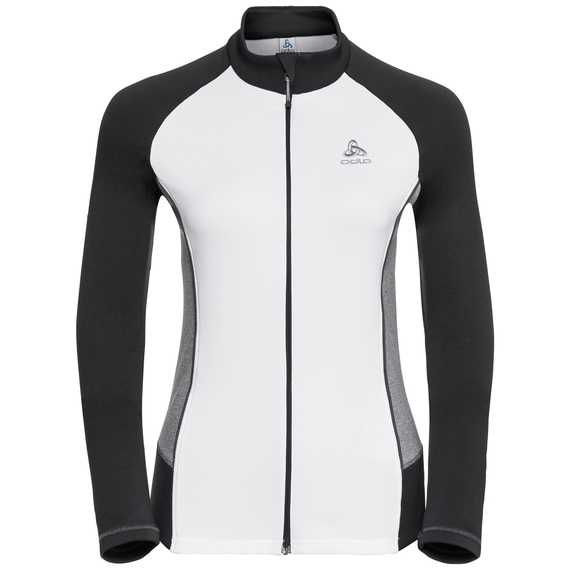 Midlayer zip intera SNOWBIRD, white - odlo graphite grey - grey melange, large