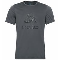 T-shirt ELEMENT LIGHT PRINT da uomo, odlo graphite grey - placed print FW19, large