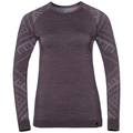 Sous-vêtement technique T-shirt manches longues NATURAL + KINSHIP WARM pour femme, vintage violet melange, large