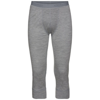 Men's NATURAL 100% MERINO WARM 3/4 Base Layer Pants, grey melange - grey melange, large