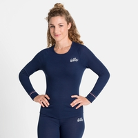 Women's ACTIVE WARM ORIGINALS ECO Long-Sleeve Baselayer Top, diving navy, large