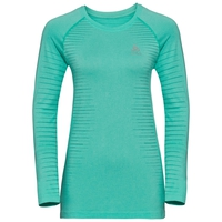 Women's SEAMLESS ELEMENT Long-Sleeve T-Shirt, pool green melange, large