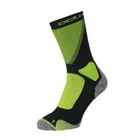CERAMIWARM XC Crew Socks, black - safety yellow, large