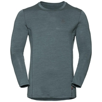 NATURAL + LIGHT Langarm-Shirt, arctic - dark slate, large