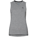Singlet NATURAL 100% MERINO WARM, grey melange - black, large