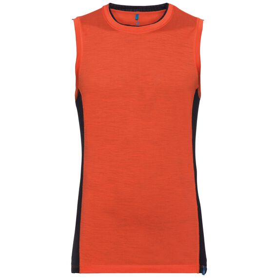 SUW TOP Crew neck Singlet NATURAL + CERAMIWOOL LIGHT, flame, large