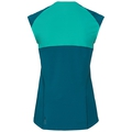 BL TOP CeramiCool kurzärmeliges Oberteil mit Rundhalsausschnitt, crystal teal - pool green, large