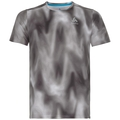 Herren MILLENNIUM ELEMENT PRINT T-Shirt, odlo concrete grey - black - AOP FW18, large