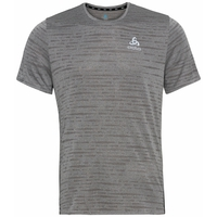 Men's ZEROWEIGHT ENGINEERED CHILL-TEC Running T-shirt, odlo steel grey melange, large