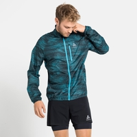 Men's ZEROWEIGHT AOP Jacket, horizon blue - graphic SS21, large