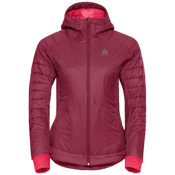 Jacket insulated FLOW COCOON ZW, rumba red, large