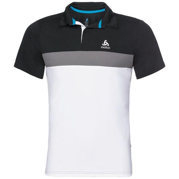 Polo NIKKO LIGHT, black - odlo steel grey - white, large