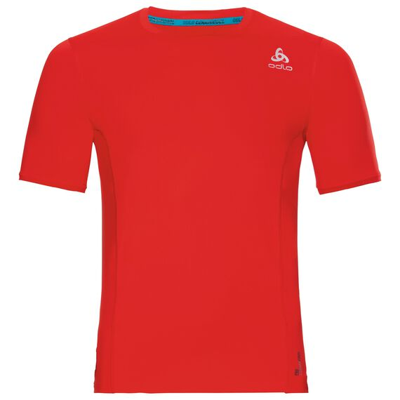 BL Top Crew neck s/s CERAMICOOL pro, fiery red, large