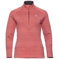 Women's SILVRETTA CERAMIWARM 1/2 Zip Midlayer, faded rose - AOP FW19, large
