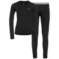 Women's NATURAL 100% MERINO WARM Baselayer Set, black - black, large