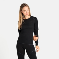 Women's ACTIVE X-WARM ECO Long-Sleeve Base Layer Top, black, large