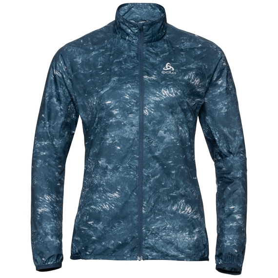 Women's ZEROWEIGHT Jacket, blue wing teal - AOP FW19, large