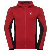 Hoody midlayer full zip SPOOR, red dahlia, large