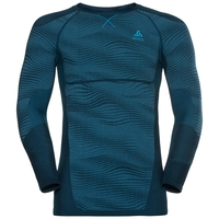 SUW Top Crew neck l/s PERFORMANCE BLACKCOMB, poseidon - blue jewel - atomic blue, large