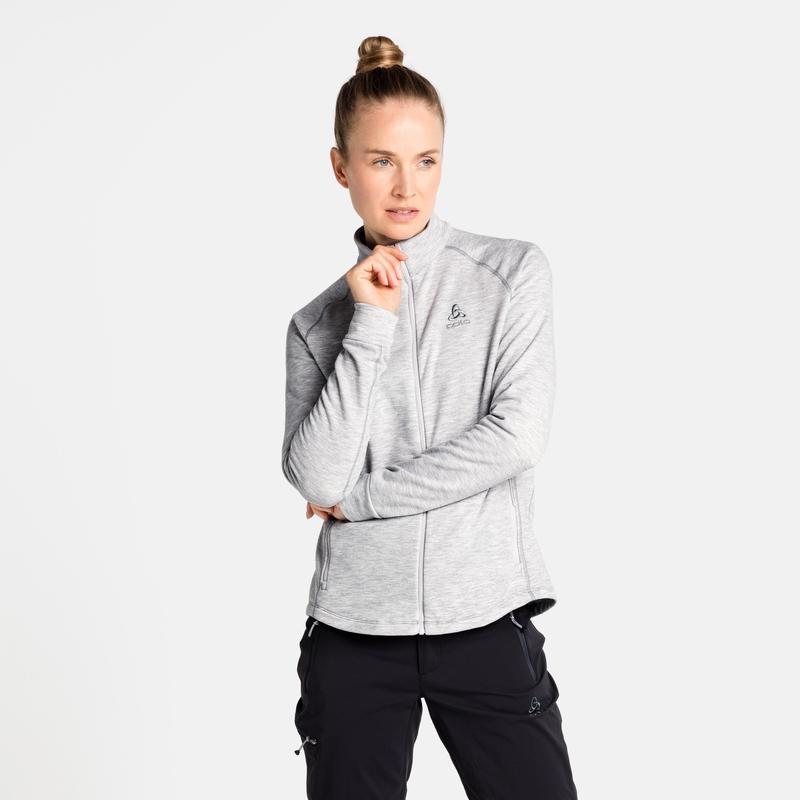 The Berra mid layer zip, grey melange, large