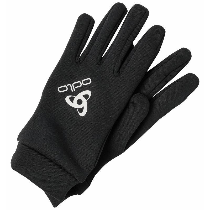 The Stretchfleece Liner ECO gloves, black, large