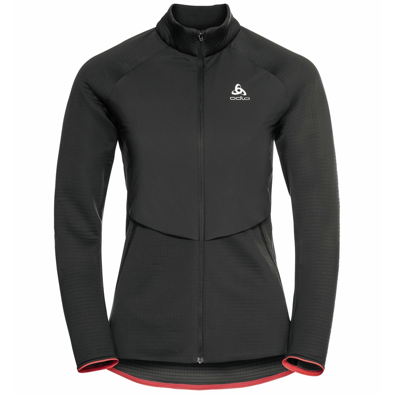 Sesvenna Hybrid S-Thermic Mid Layer Jacke, black, large