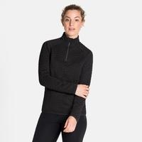 Pull technique demi-zippé CORVIGLIA KINSHIP pour femme, black, large