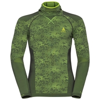Shirt l/s with Facemask Blackcomb EVOLUTION WARM, odlo graphite grey - safety yellow - safety yellow, large