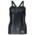 Singlet with integrated top JACKIE, black AOP, large